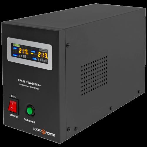 ИБП с правильной синусоидой LogicPower LPY-B-PSW-500VA+ (350W) 5A/10A 12V для котлов и аварийного освещения